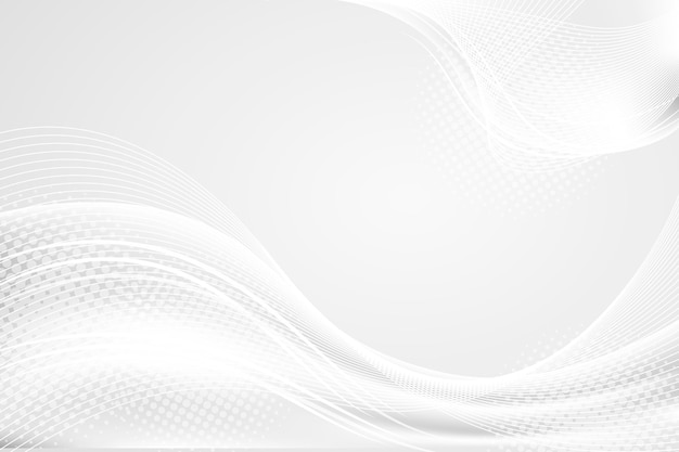 Luxury white with waves background