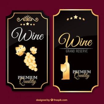 Etichette di vini di lusso in design vintage