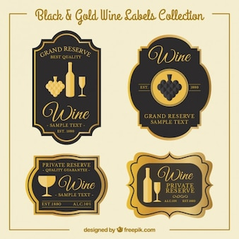 Adesivi vino di lusso in stile vintage
