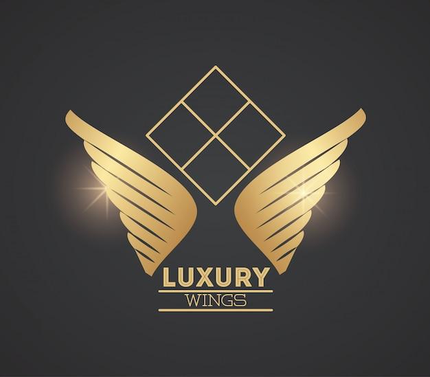 Luxury wings emblem