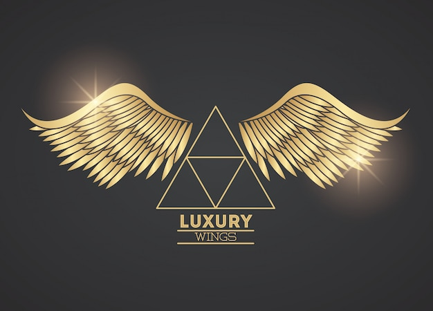 Luxury wings emblem