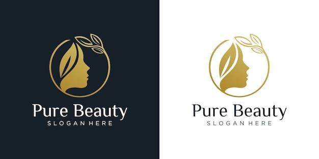 高級女性のヘアサロンのロゴデザイン