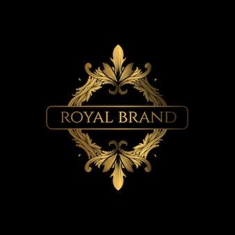 Логотип luxury с золотым цветом