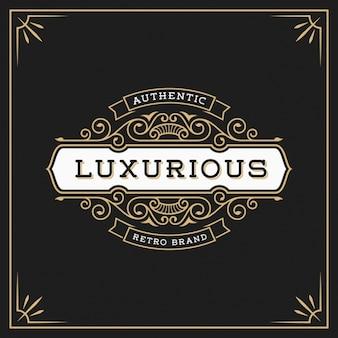 Шаблон luxury логотип