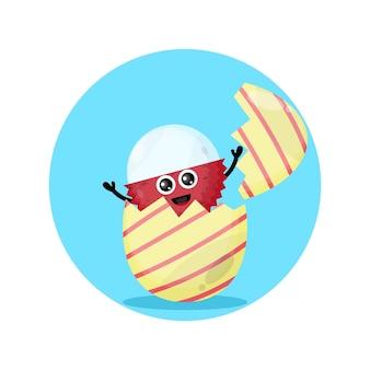 Личи пасхальное яйцо милый персонаж талисман