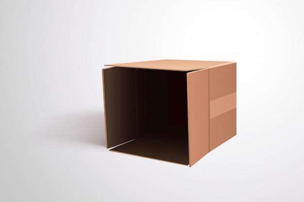 Лежа картонная коробка Premium векторы