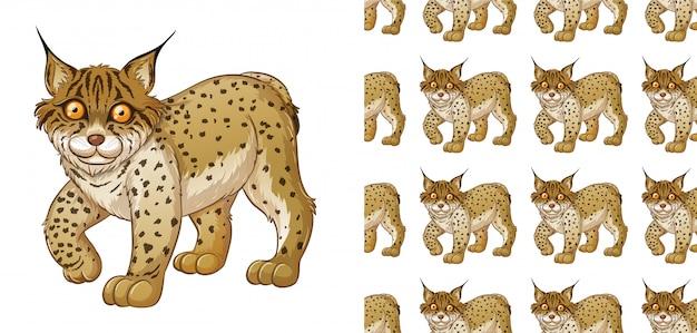 Lynx animal pattern cartoon