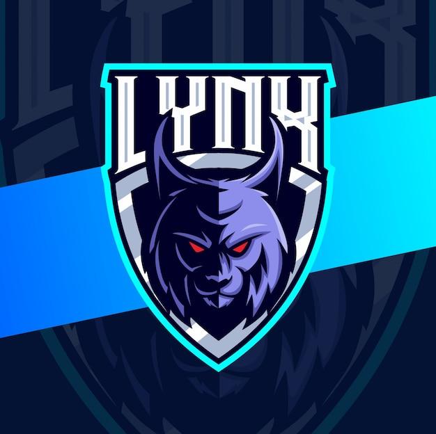 Lynx head mascot esport logo design