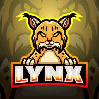 Lynx 마스코트 esport 그림
