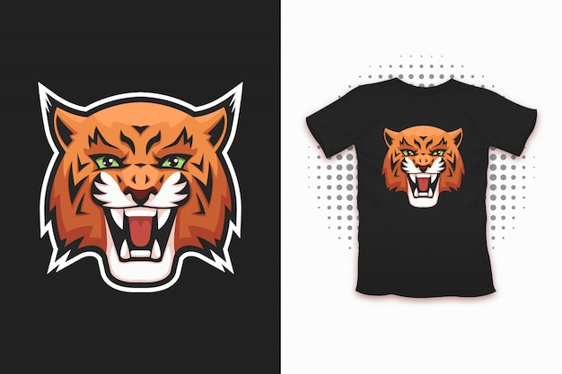 Lynx 프린트 티셔츠