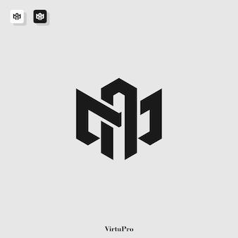 Шаблон логотипа с монограммой m и a