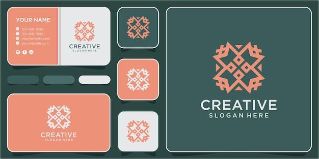 Вдохновение для создания логотипа сообщества m. дизайн логотипа m. концепция логотипа линии сообщества