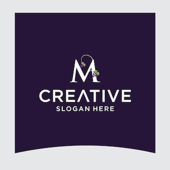 M grape logo design
