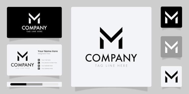 Mの頭文字のロゴビジネスアイデンティティのある文字mのモノグラムロゴ