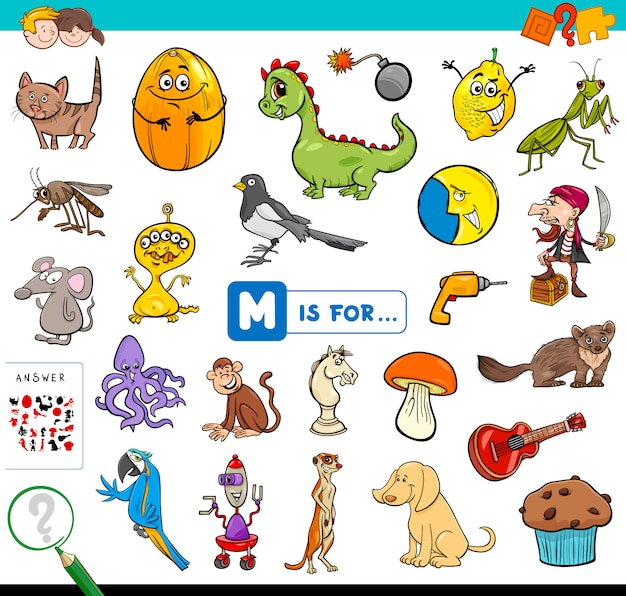 M is for educational game for children