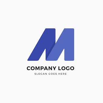 M letter logo design template