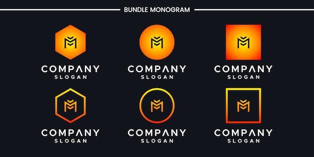 M文字のロゴデザイン