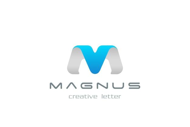 M 문자 로고 아이콘.