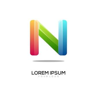 M письмо логотип инициалы красочный градиент аннотация