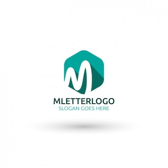 M lettera logo template