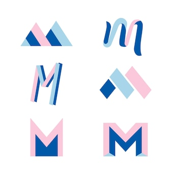 M logo collection concept