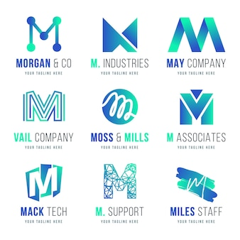 Коллекция логотипов m