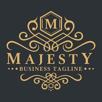 Письмо m - majesty royal luxury logo шаблон