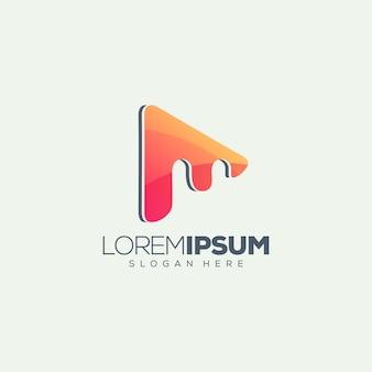 M media logo design