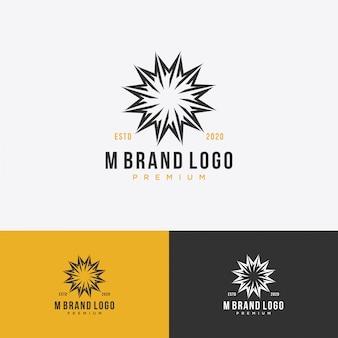М монограмма начальный королевский логотип