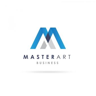M 모양 로고 디자인