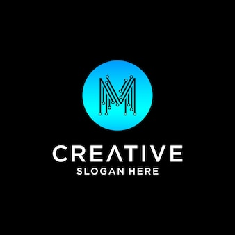 M tech logo design