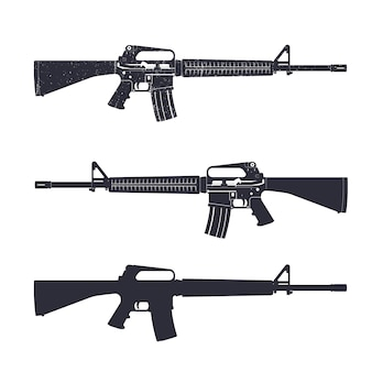 M16 assault rifle, 5.56 mm automatic gun
