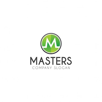 M письмо логотип
