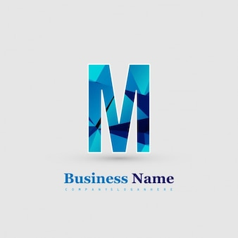 Письмо m логотип