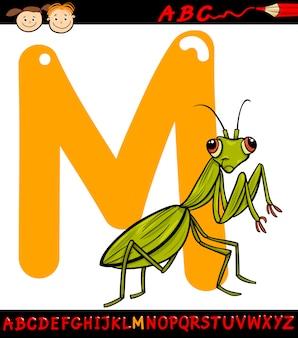 Буква m для иллюстрации мультфильма