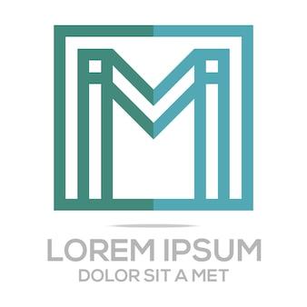 Шаблон логотипа m