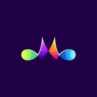 Mカラフルなロゴデザイン