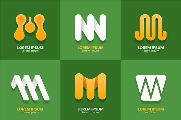 M дизайн логотипа коллекция