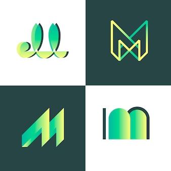 M шаблон коллекции логотипов