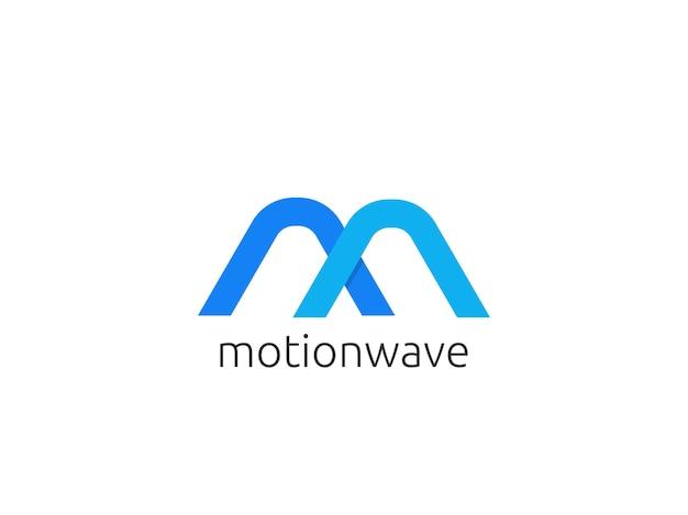 Абстрактное письмо m логотип значок шаблона