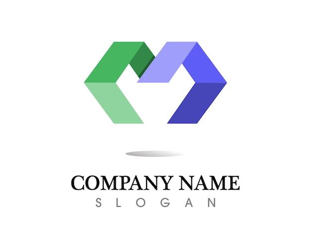 文字mのベクトルアイコンなどのロゴ