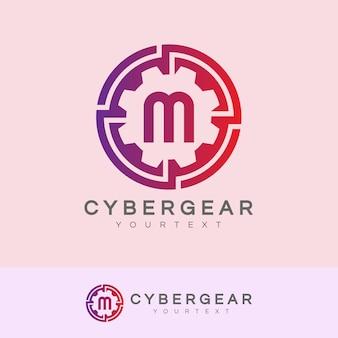 Технология начального письма m логотип дизайн