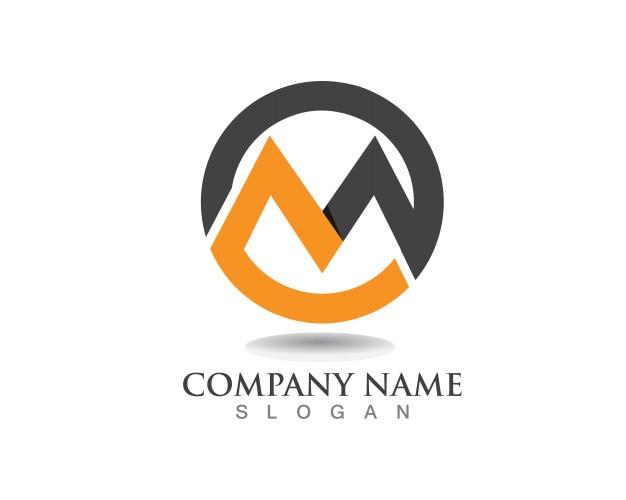 M логотип логотипа бизнес-шаблона векторный значок