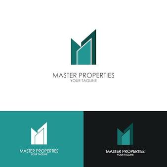 Абстрактный логотип, начальная буква m