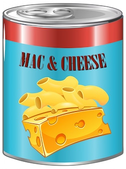Mac and cheese in aluminum can