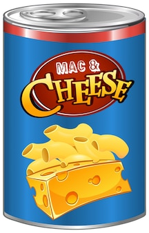 Mac and cheese in can