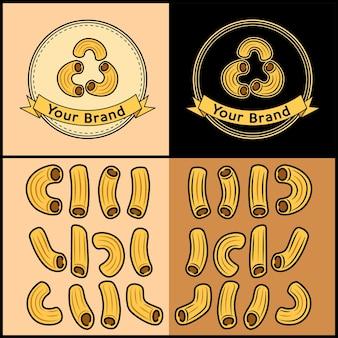 Набор макарон с логотипом