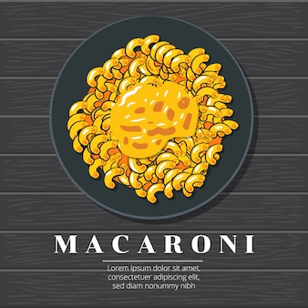Macaroni vector graphic design