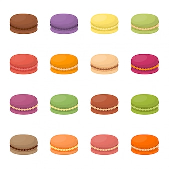 Macaroon cake  illustration