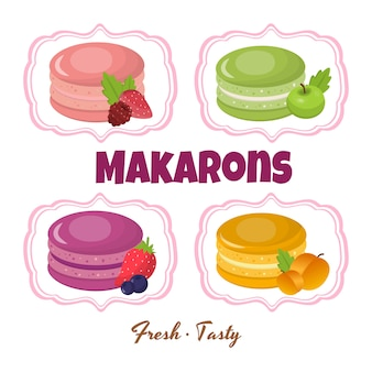 Macaroons and ingredients